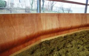 Arena kickboards for equestrian sports