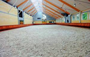 Safety kick board for indoor riding ring